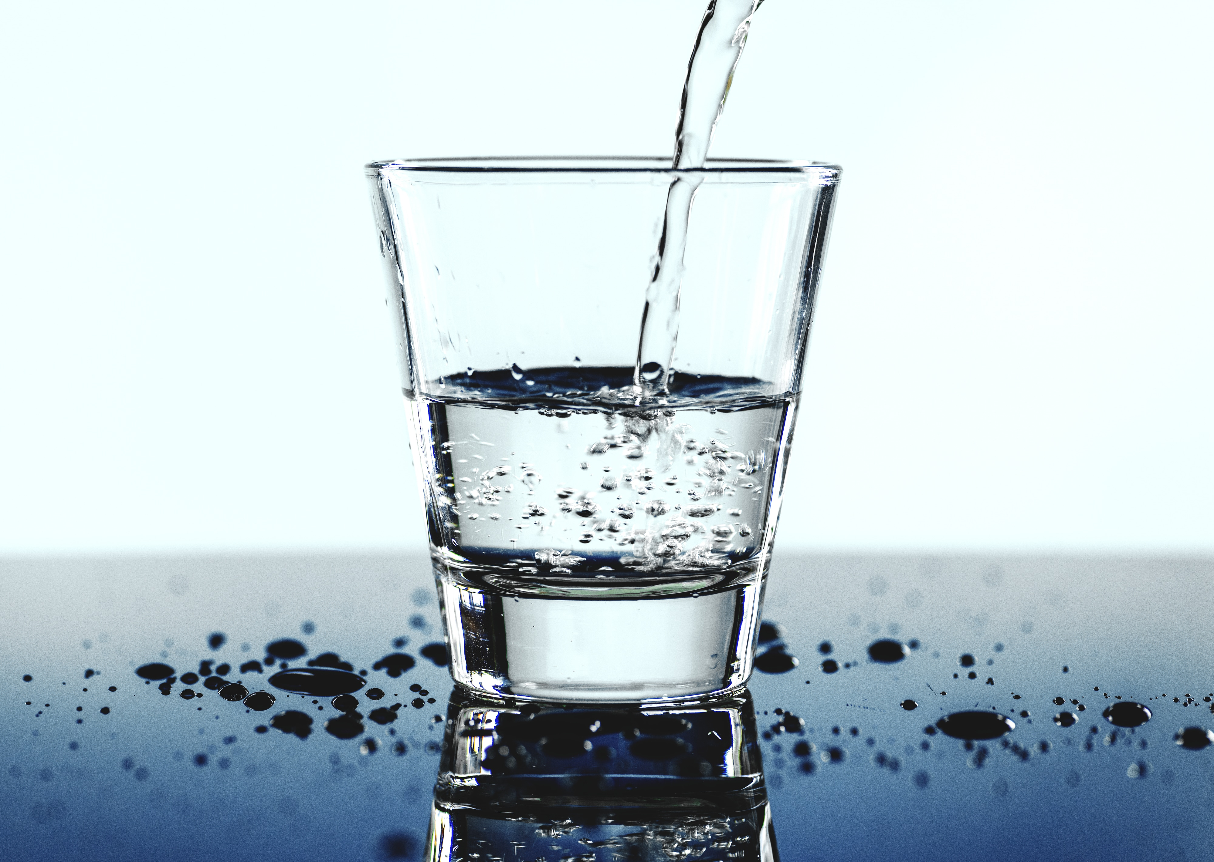 Een glas drinkwater